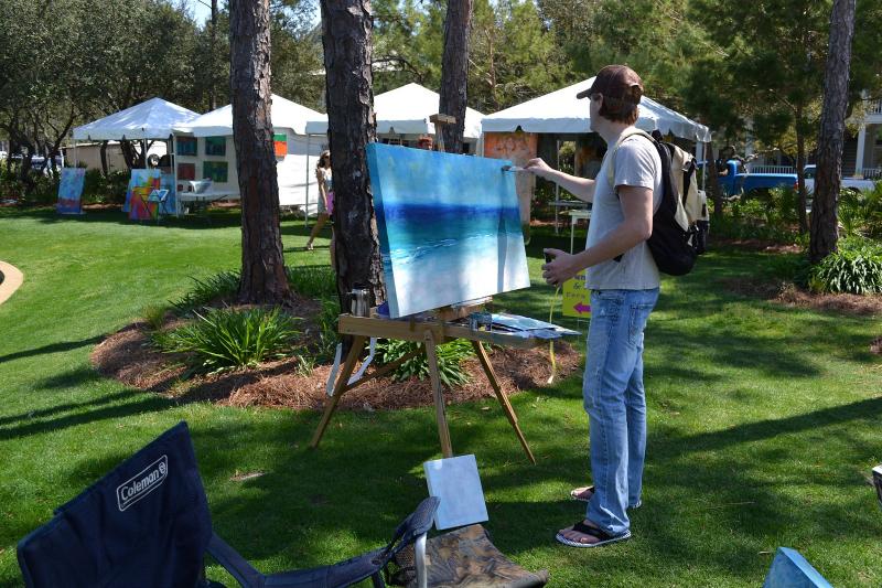Colorblind artist, Aaron Sutton