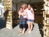 Ginger with daughters, Emma & Hayleigh