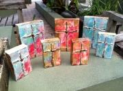 Ginger's pink & blue crosses