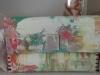 Lisa W canvas handbag ivory with pastels