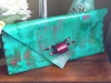 Lisa W canvas handbag mint