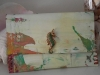 Lisa W canvas handbag with seahorse
