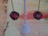 Lisa W vintage earrings pink