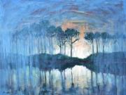 dusk at western lake 2014 web