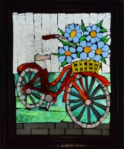 Bike with Blue Flowers