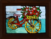 Bike with Red Flowers