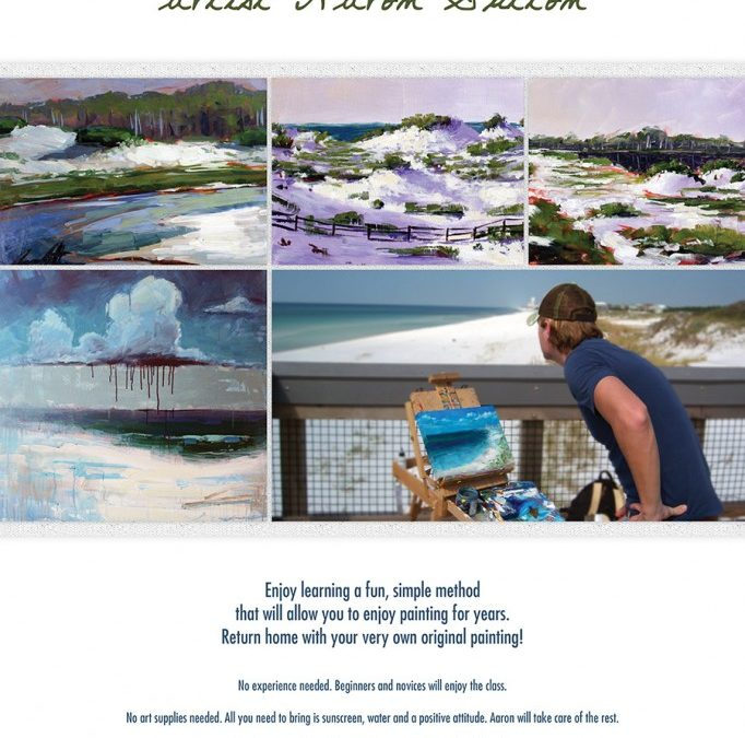 Learn to Paint our Local Beaches and Coastal Dune Lakes