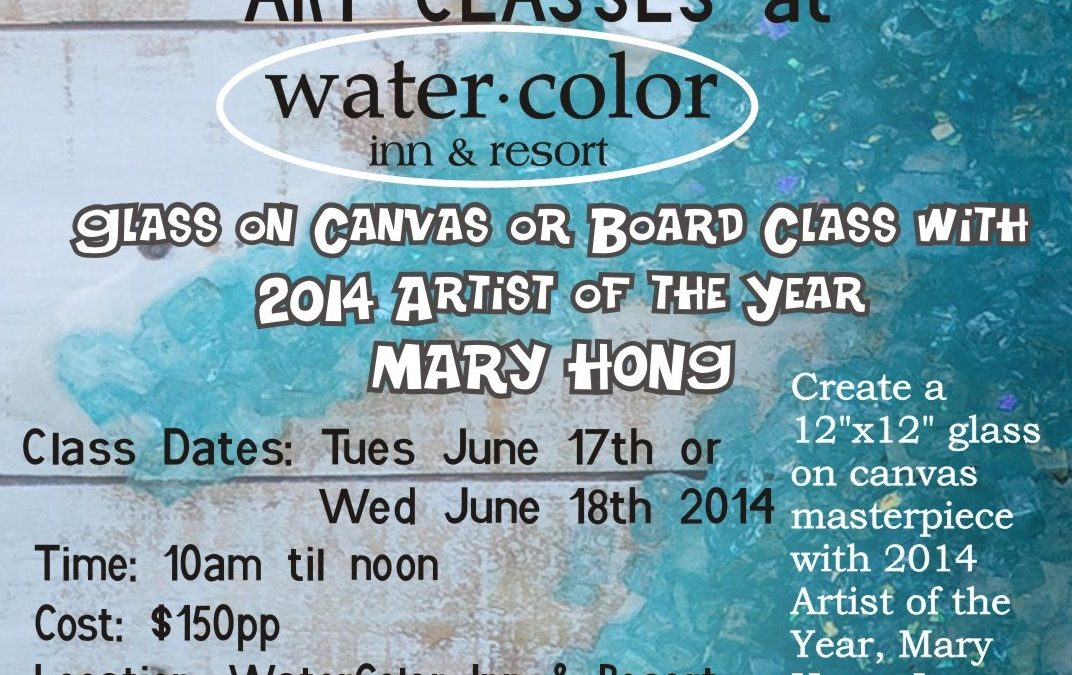 Glass Art Classes w/ Mary Hong, 2014 Artist of the Year