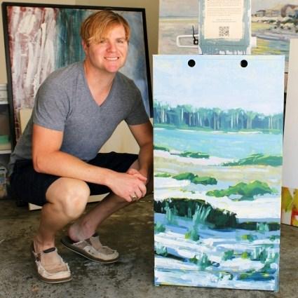 Aaron Sutton Paints Newspaper Box