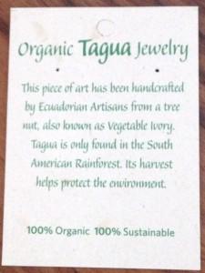 Tagua Organic Jewelry Tag