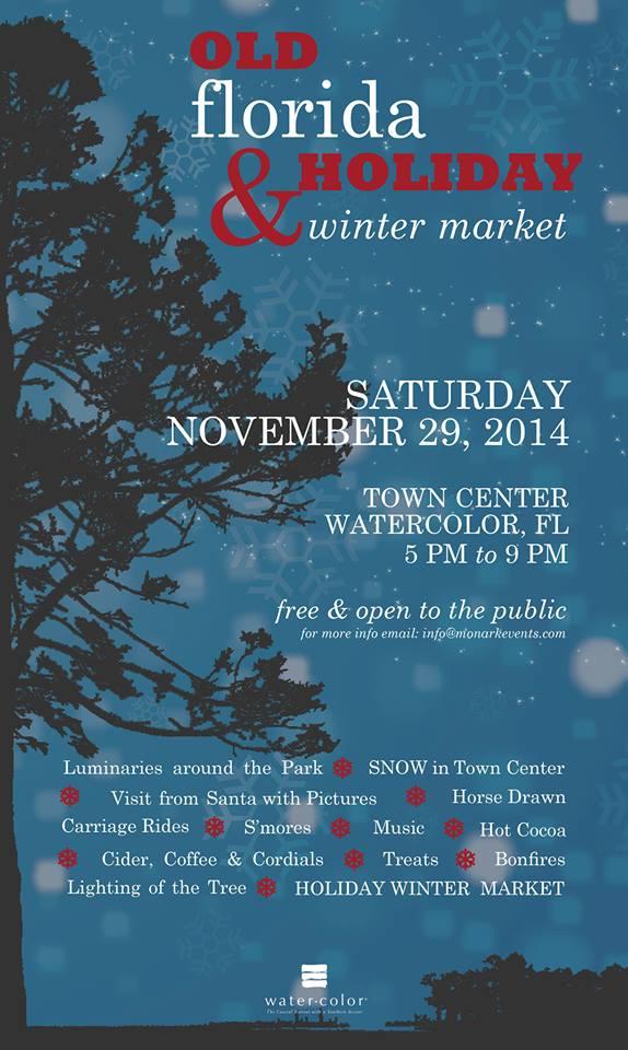 Old Florida Holiday Market - 2014 Poster