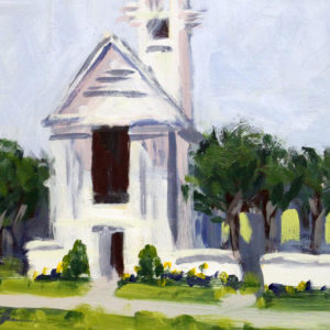 seaside chapel - plein air 7x10 on panel